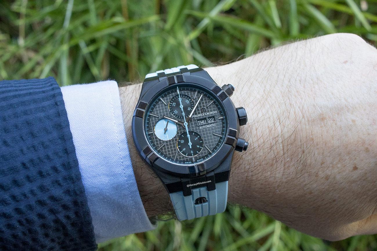 El Maurice Lacroix Aikon Automatic Chronograph Sprint, visto de frente