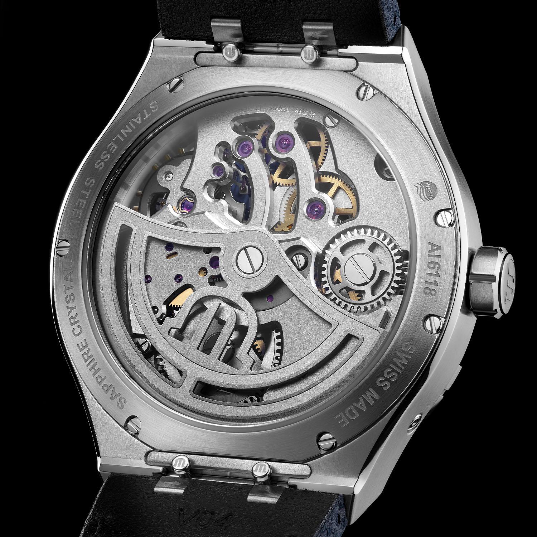 El calibre de manufactura ML331 del Maurice Lacroix Aikon Master Grand Date