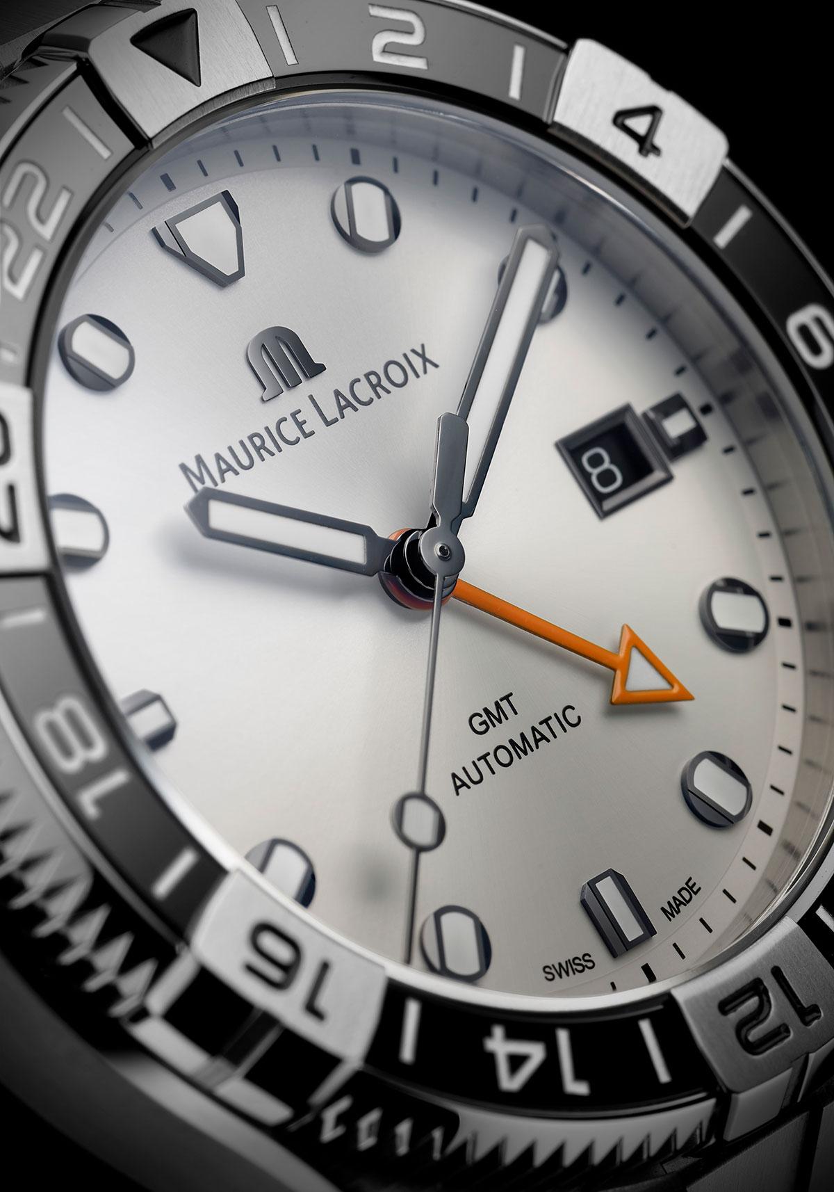 Esfera blanca del Maurice Lacroix Aikon Venturer GMT