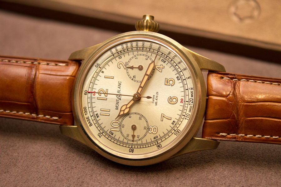 montblanc-1858-collection-bronce-chronograph-tachymeter-limited-edition-100-12-horasyminutos