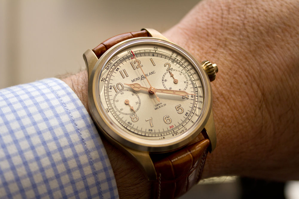 montblanc-1858-collection-bronce-chronograph-tachymeter-limited-edition-100-horasyminutos