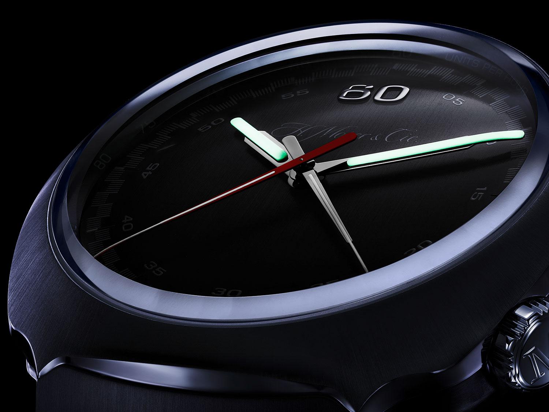 Globolight en el Moser Streamliner Chronograph