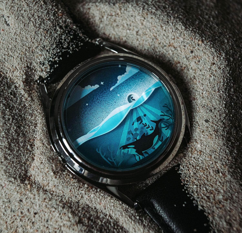 Otra imagen del Mr Jones Watches Mare Adesso