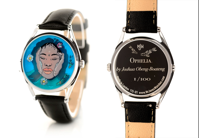 Anverso y reverso del Ophelia de Mr. Jones Watches