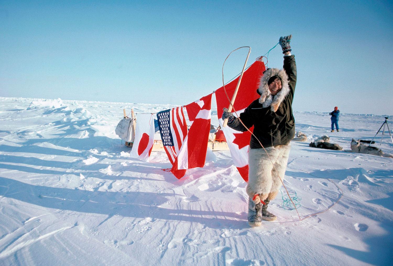 Naomi Uemura en el Polo Norte