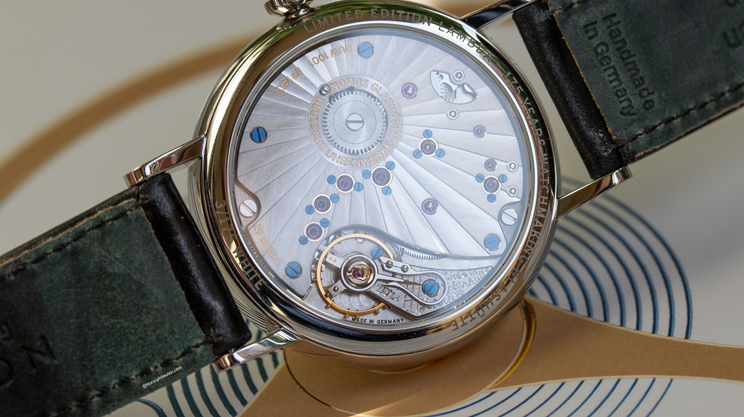 Calibre DUW 1001 del Nomos Lambda 175 Years Watchmaking