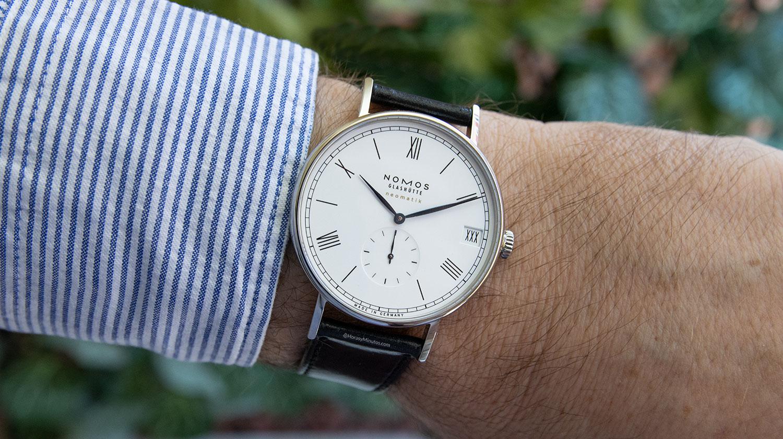 El Nomos Ludwig neomatik 41 mm 175 Years Watchmaking, puesto