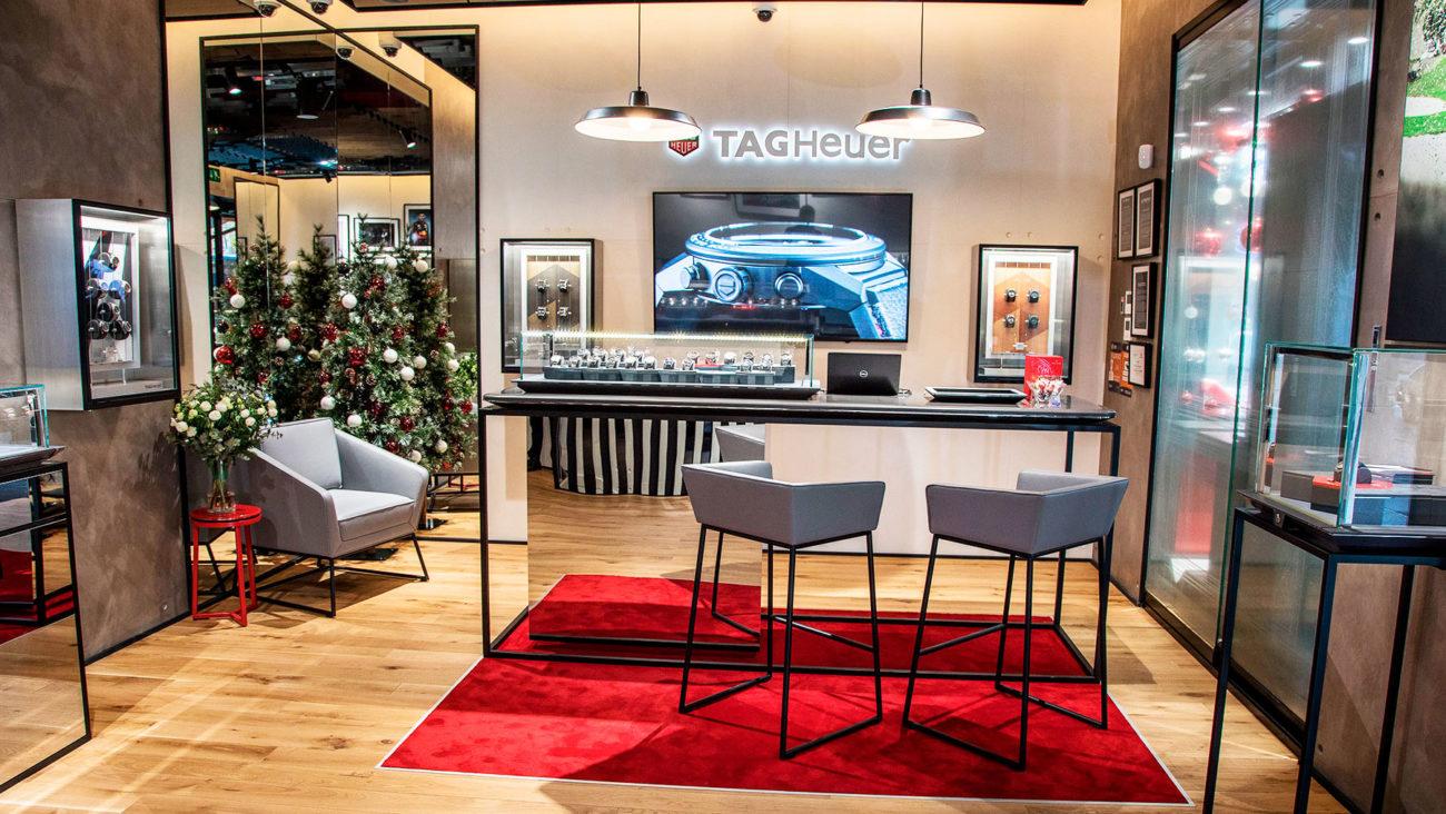 Interior de la nueva boutique de TAG Heuer