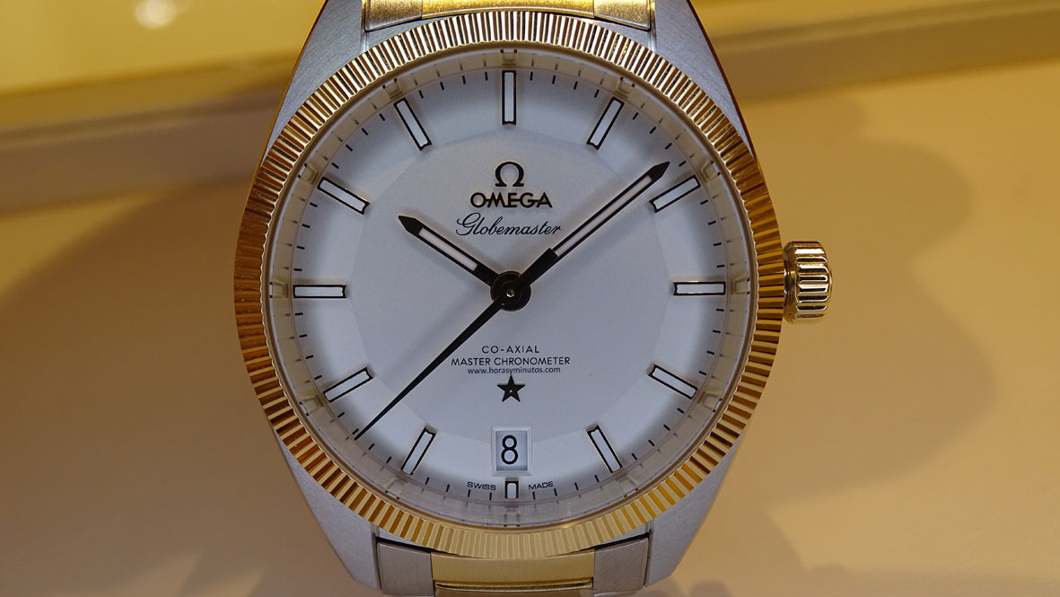 OMEGA-Globemaster-Master-Chronometer-acero-y-oro-amarillo-1-Horas-y-Minutos