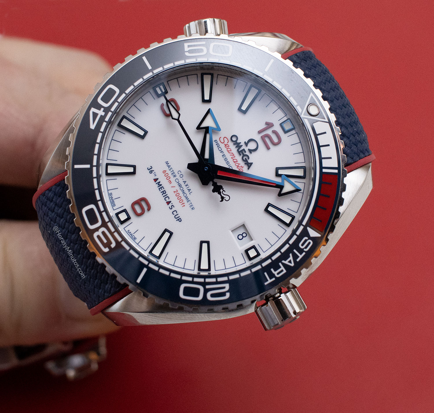 Esfera del OMEGA Seamaster Planet Ocean 36th America's Cup Limited Edition