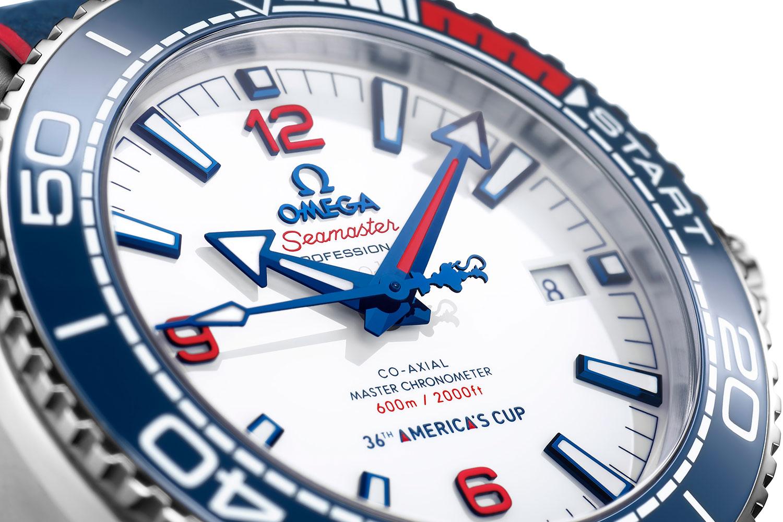 Esfera del OMEGA Seamaster Planet Ocean 36th America's Cup Limited Edition