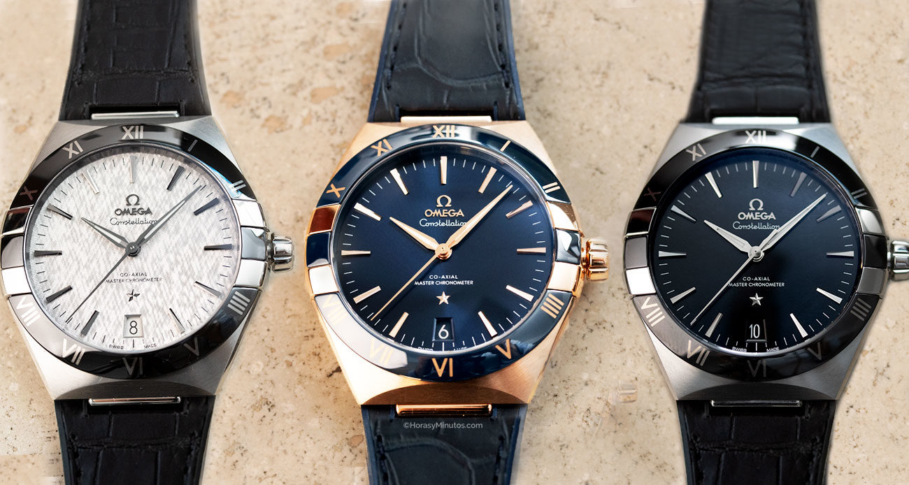Los tres Omega Constellation Gent's Collection