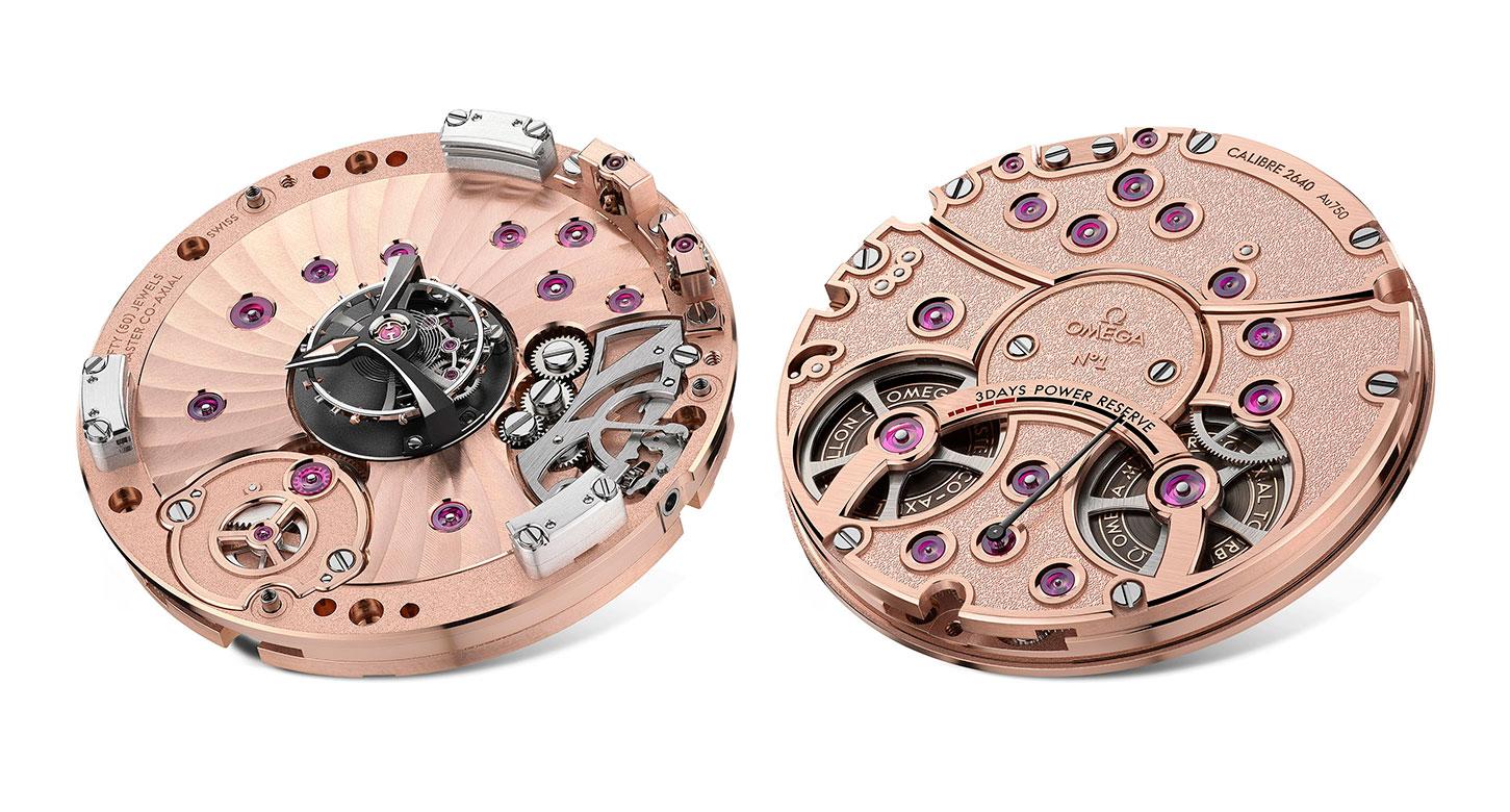Calibre 2640 del Omega De Ville Tourbillon Co-Axial Master Chronometer
