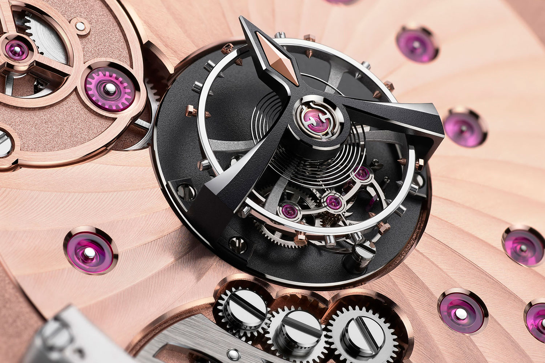 El volante del Omega De Ville Tourbillon Co-Axial Master Chronometer
