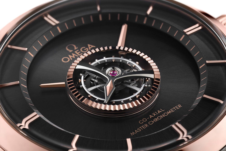 Detalle del tourbillon del Omega De Ville Tourbillon Co-Axial Master Chronometer