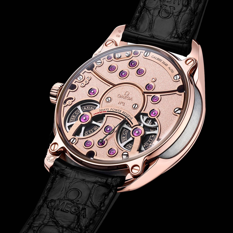 Trasera del Omega De Ville Tourbillon Co-Axial Master Chronometer