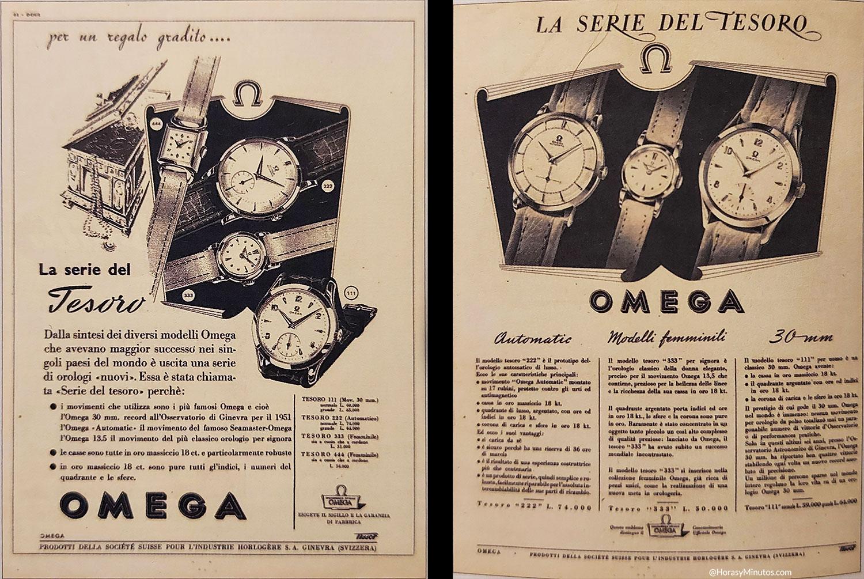 Omega Tresor anuncio 1952