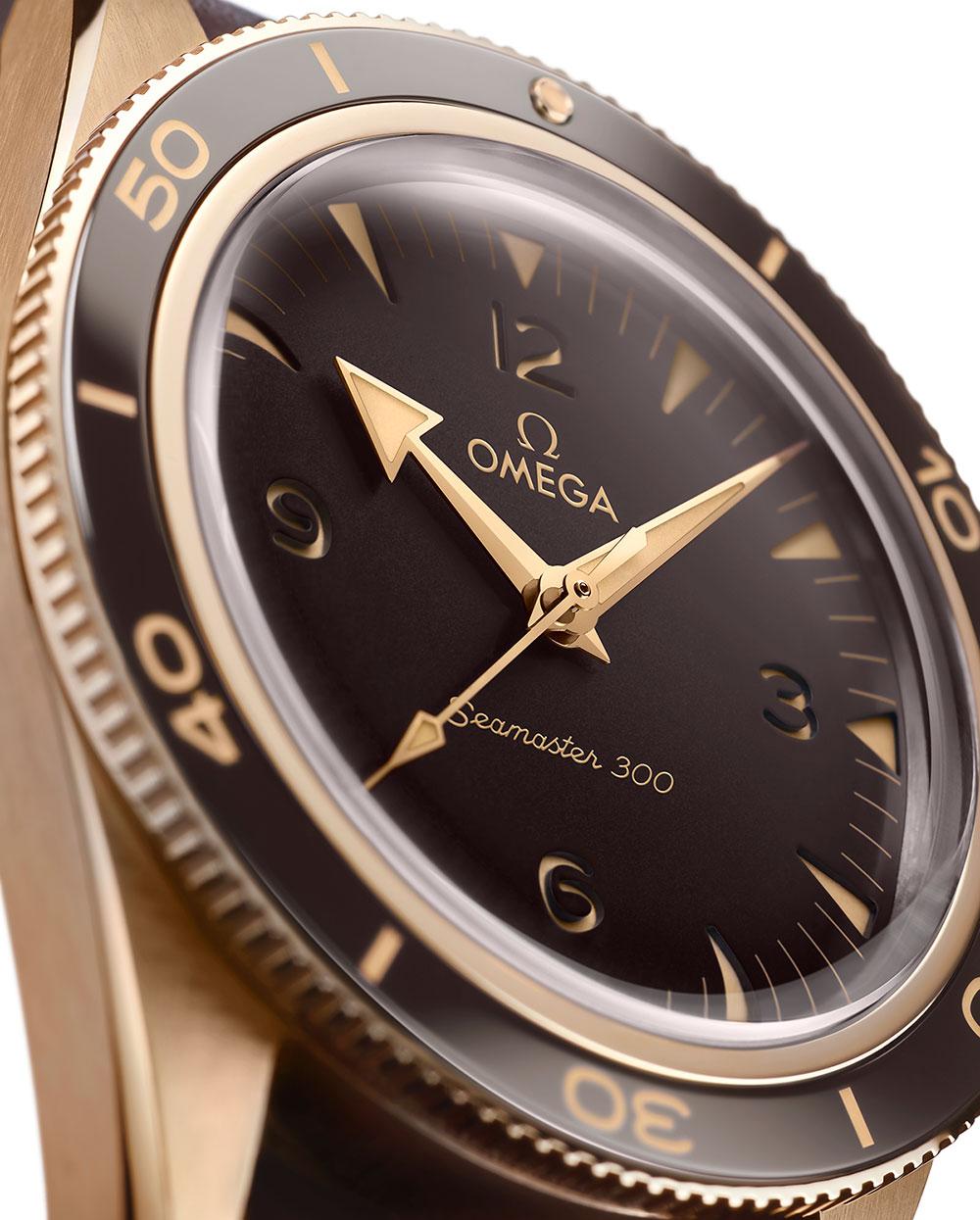 Esfera del Omega Seamaster 300 oro bronce