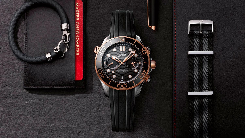 Omega Seamaster 300M Chronograph acero y oro sedna