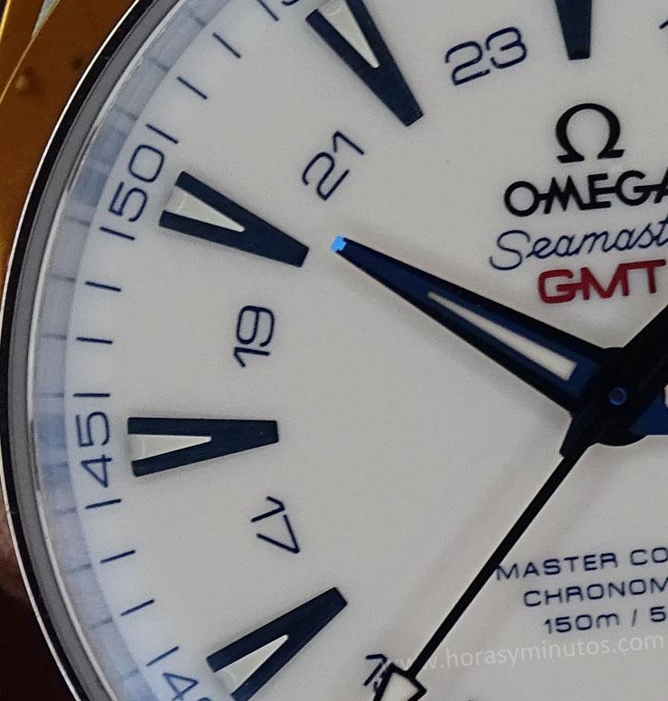 Omega-Seamaster-Aqua-Terra-GoodPlanet-GMT-detalle-manecilla