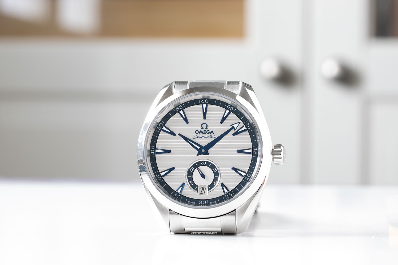 Omega Seamaster Aqua Terra Small Seconds blanco y brazalete