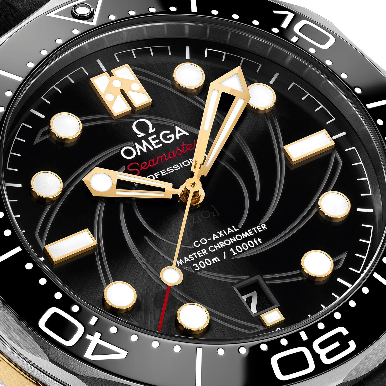 """Esfera del Omega Seamaster Diver 300M """"On Her Majesty's Secret Service"""" 50th Anniversary"""