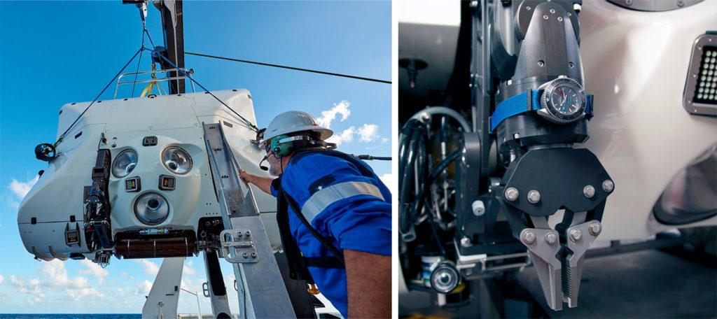 El Omega Seamaster Planet Ocean Ultra Deep Professional en casco exterior del DSV Limiting Factor