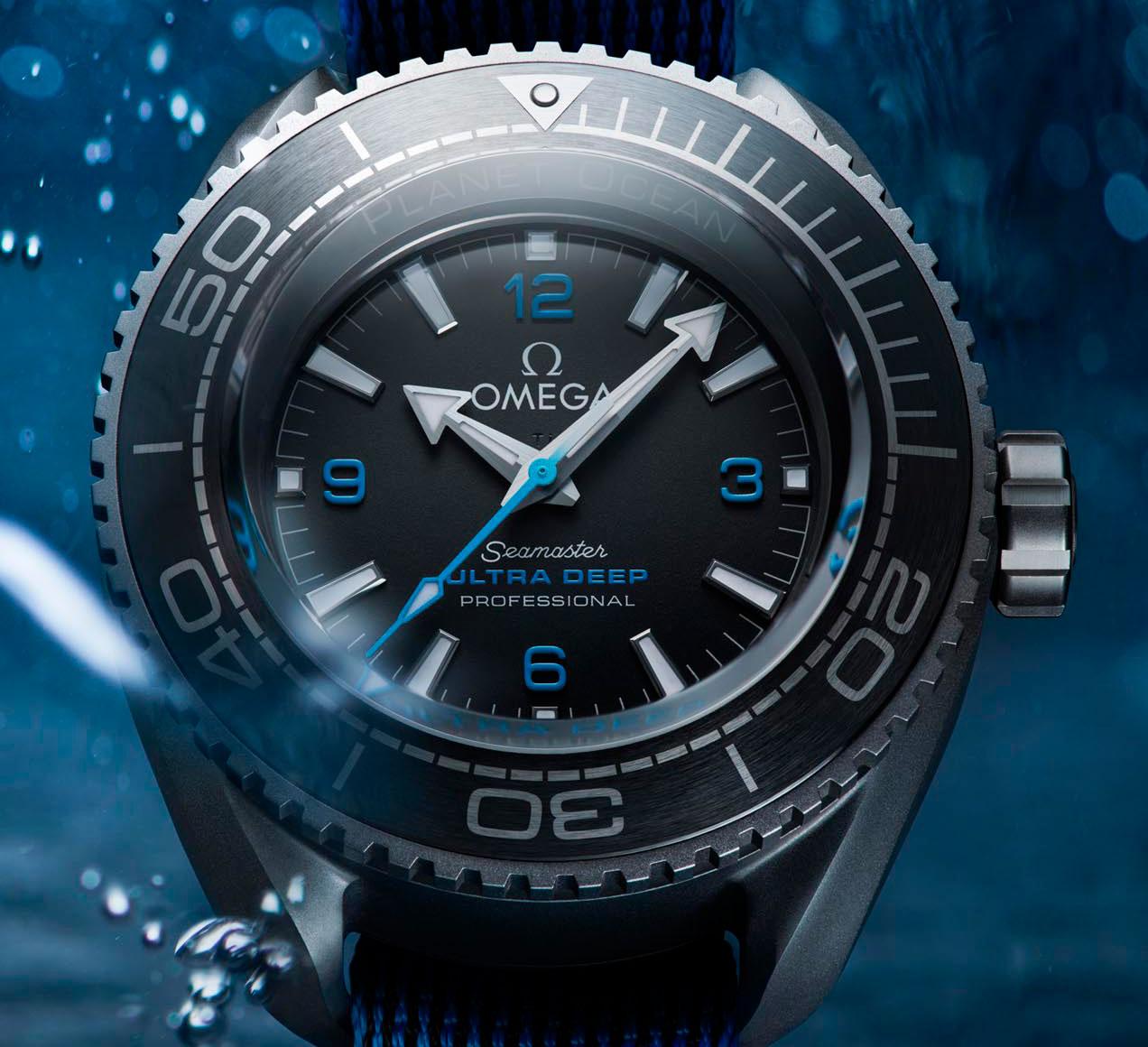 Esfera del Omega Seamaster Planet Ocean Ultra Deep Professional