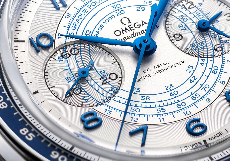 Detalle de la esfera del Omega Speedmaster Chronoscope