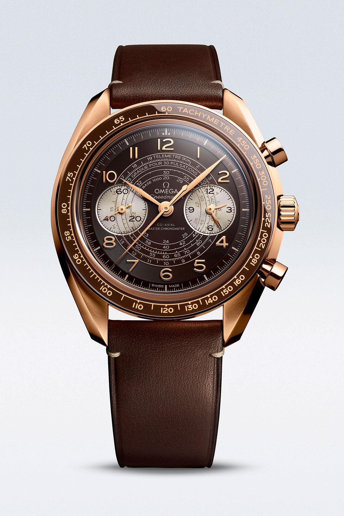 Omega Speedmaster Chronoscope en oro bronce