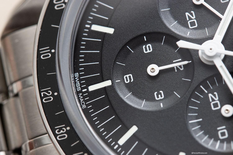 Detalle de la esfera del Omega Speedmaster Moonwatch 2021