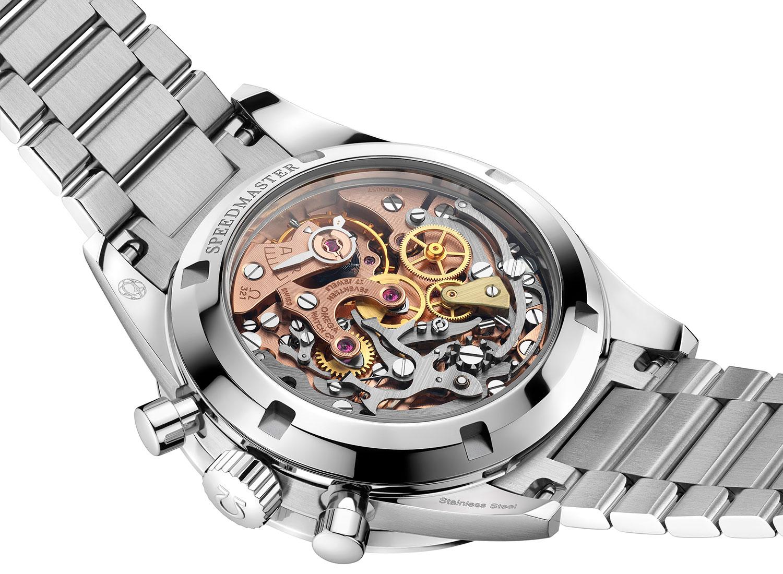 Reverso del Omega Speedmaster Moonwatch 321 Acero
