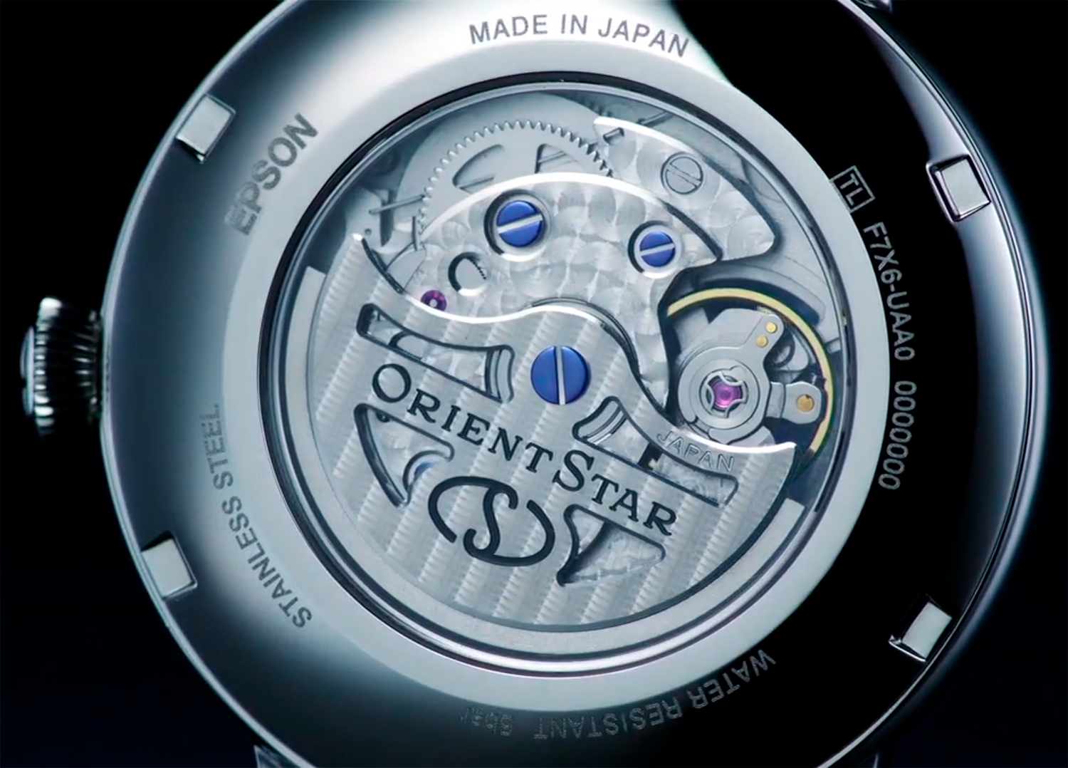 Calibre F7M62 del Orient Star Mechanical Moon Phase