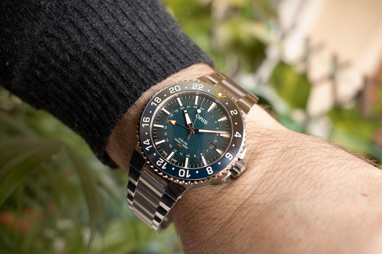 Así queda el Oris Aquis GMT Date Whale Shark Limited Edition