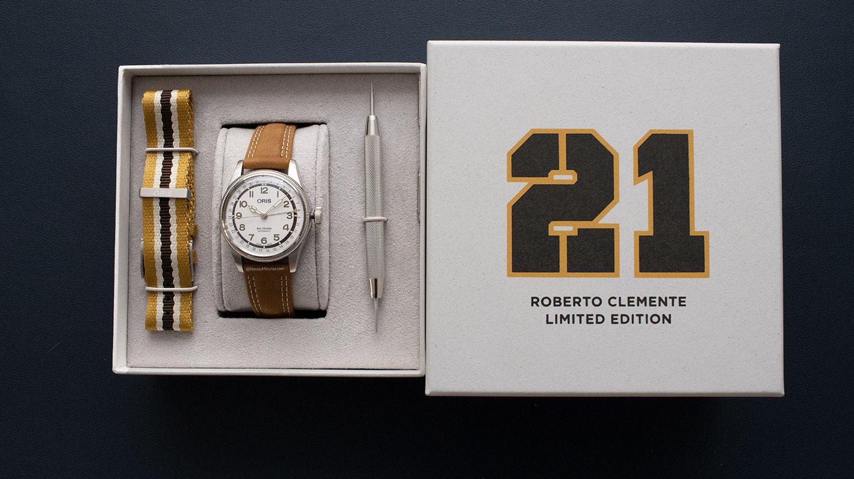 Caja del Oris Big Crown Roberto Clemente Limited Edition