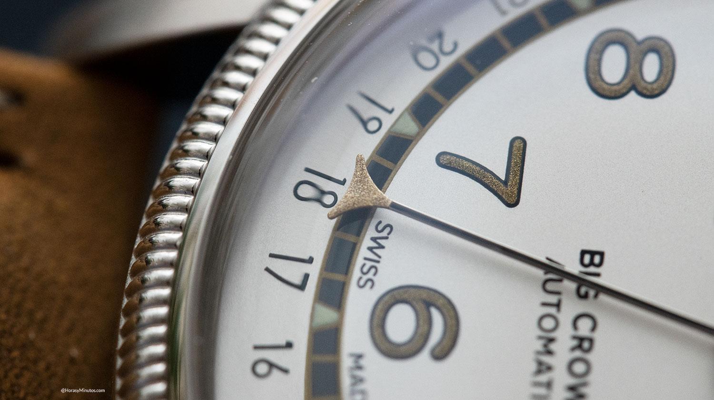 Manecilla de fecha del Oris Big Crown Roberto Clemente Limited Edition