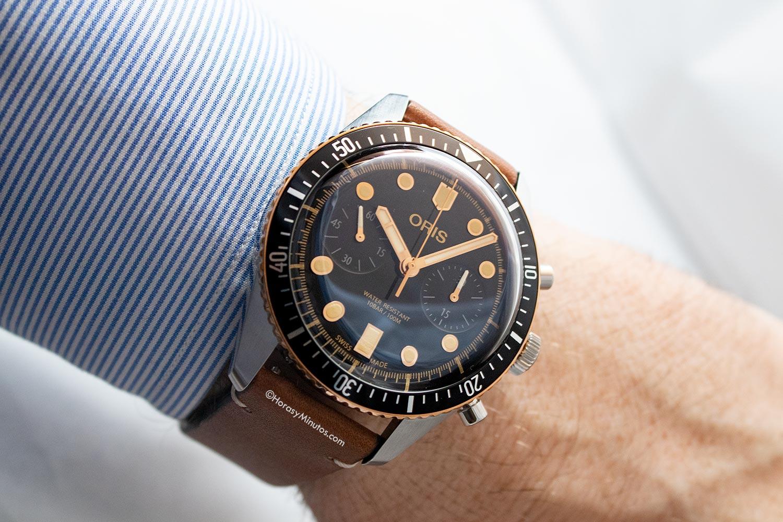 El Oris Divers Sixty-Five Chronograph, puesto