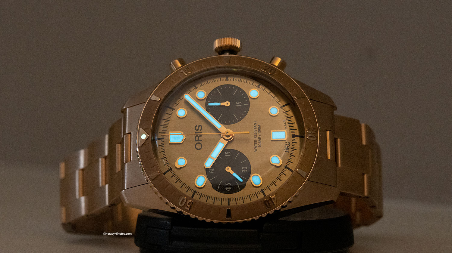 Tratamiento con Super-LumiNova del Oris Hölstein Edition 2020