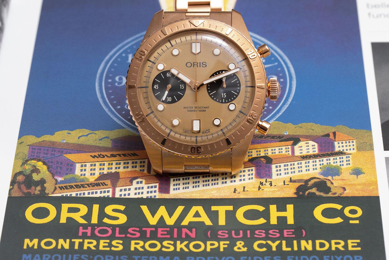 El Oris Hölstein Edition 2020 sobre un antiguo anuncio de la marca