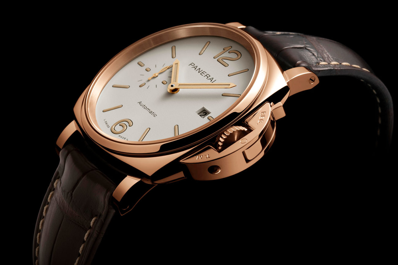 Perfil del Panerai Luminor Due 42 mm Goldtech