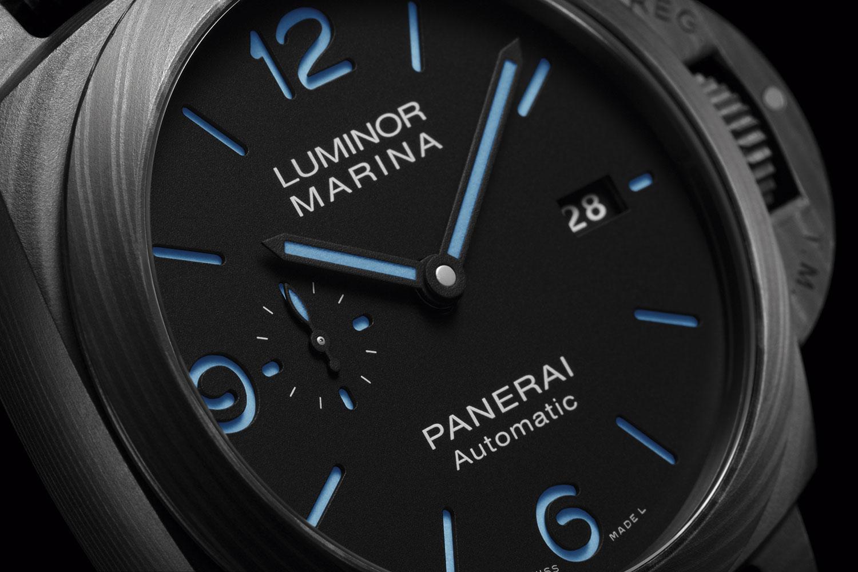 Esfera del Nuevo Panerai Luminor Marina Carbotech 44 mm (PAM01661)