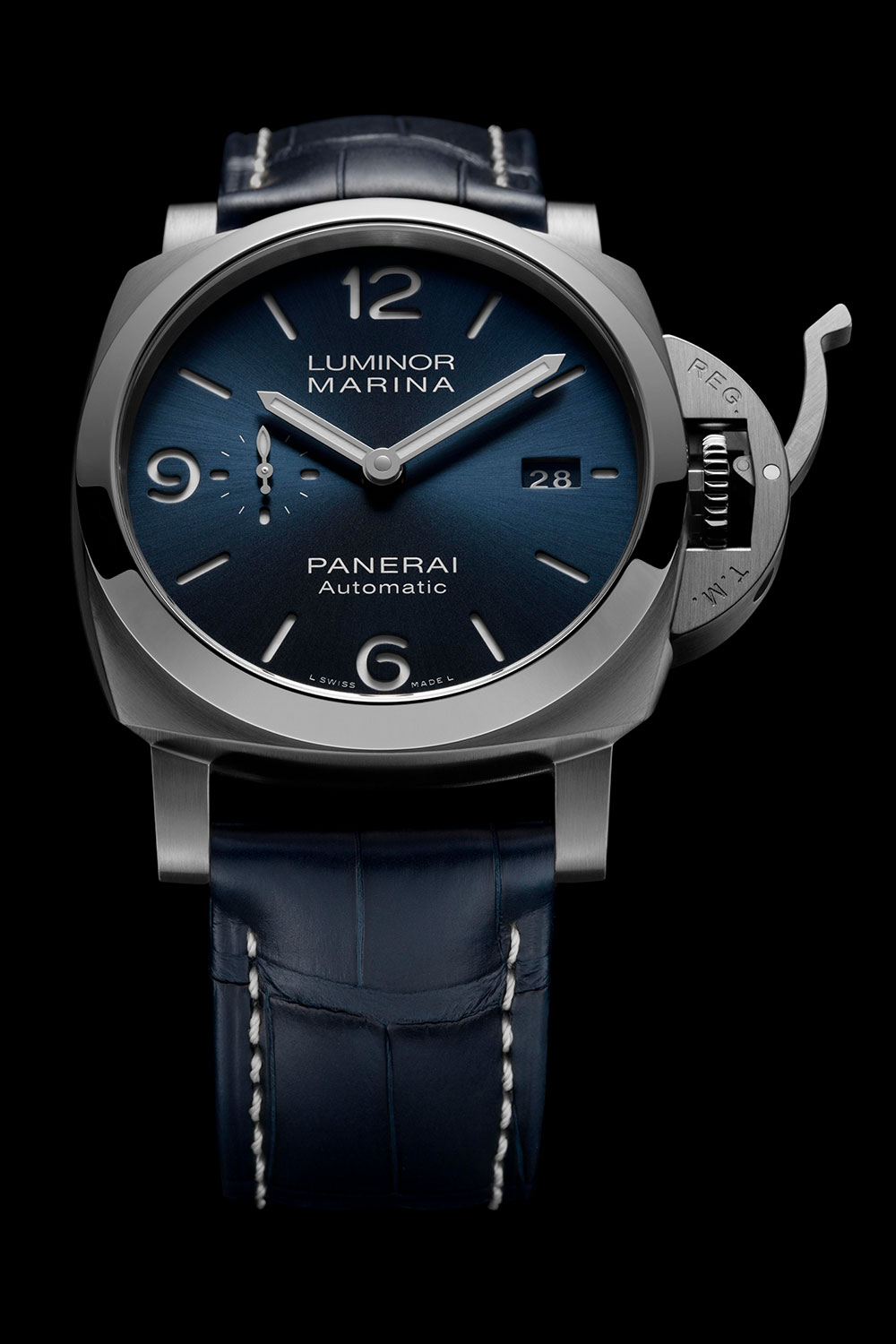 Vista frontal del Panerai Luminor Marina 44 mm PAM1313
