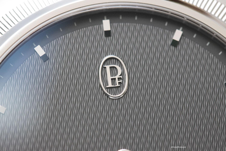 Detalle de la esfera del Parmigiani Fleurier Tonda PF Micro Rotor