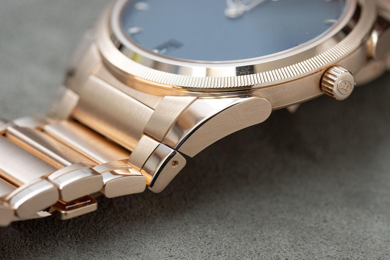 Detalle del brazalete de los Parmigiani Fleurier Tonda PF