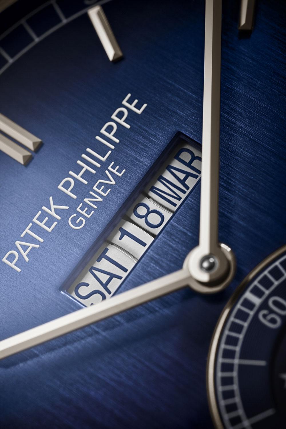 Ventana de calendario del Patek Philippe 5236P