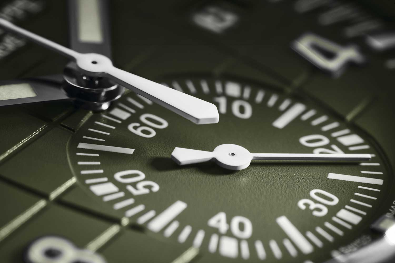 Detalle del contador del crono del Patek Philippe Aquanaut Chronograph 5968G