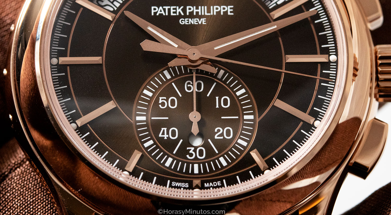 Detalle de la esfera del Patek Philippe Chronograph Annual Calendar 5905R