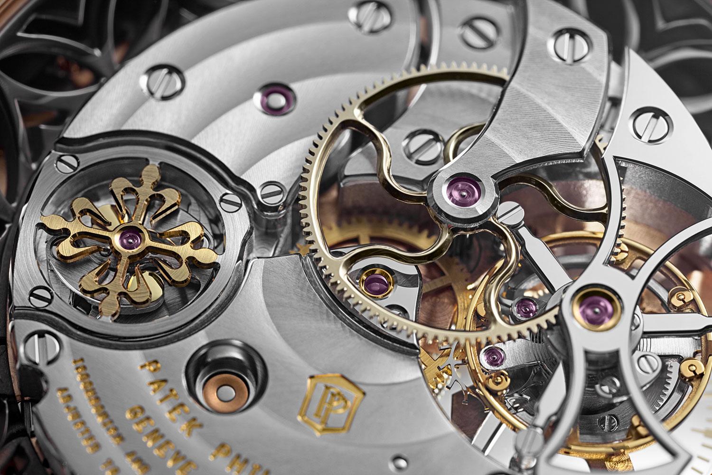 Detalle del calibre R TO 27 PS del Patek Philippe Minute Repeater Tourbillon