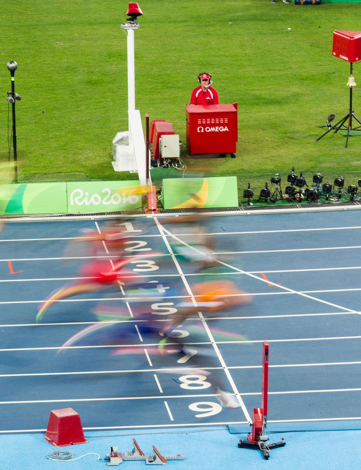 El Photo Finish para atletismo de OMEGA, en acción