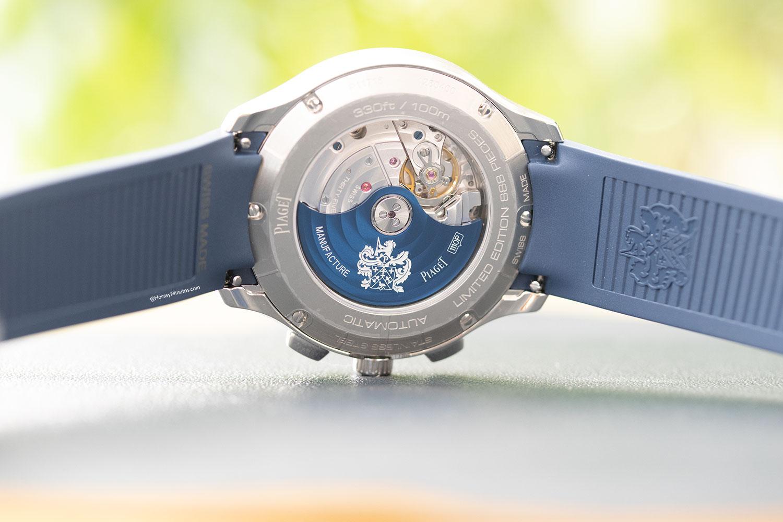 "Calibre 1160P del Piaget Polo Chronograph ""Blue Panda"""